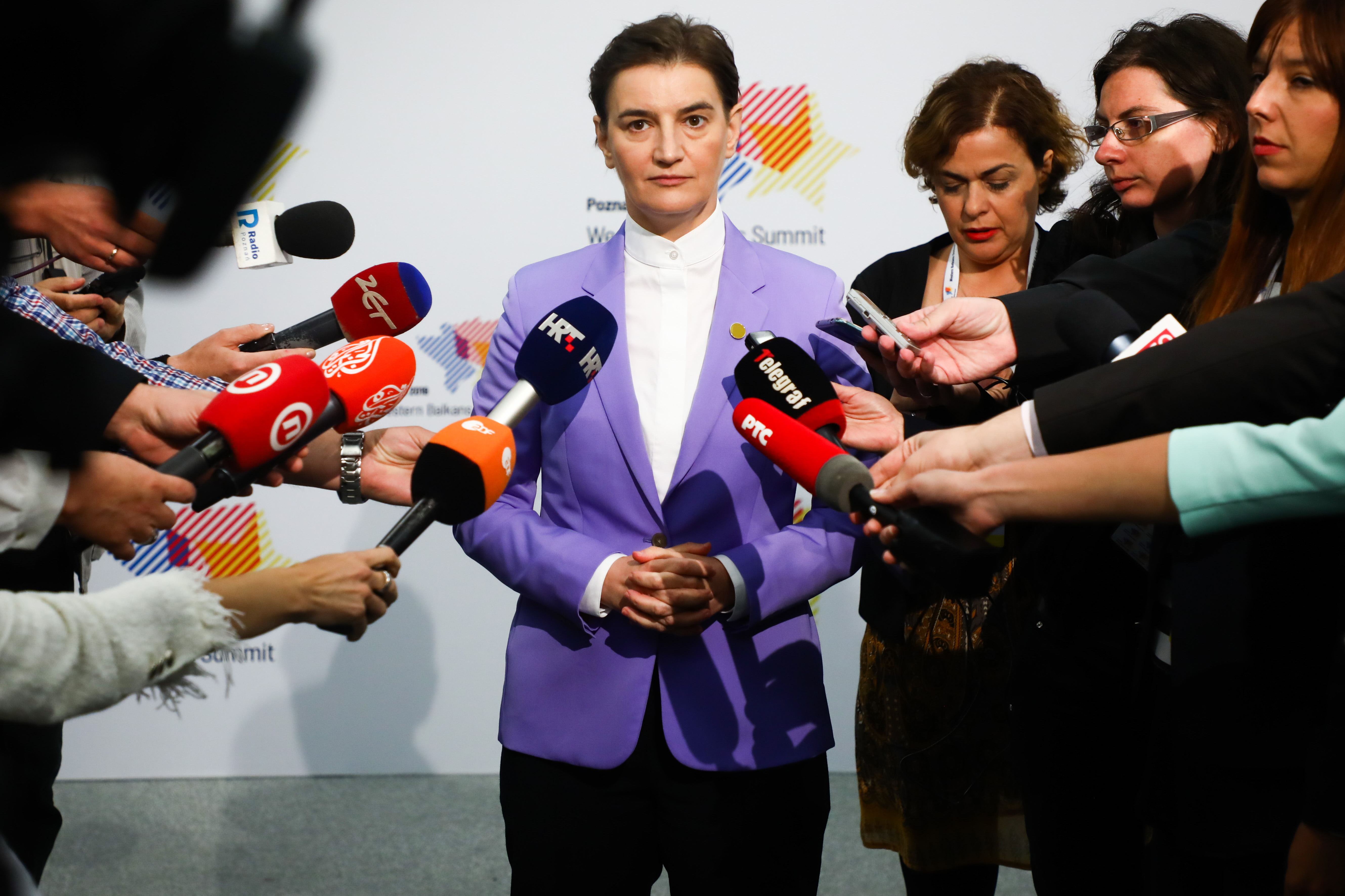Ana Brnabic, Prime Minister of Serbia, during Western Balkans Summit at the Poznan International Fair in Poznan, Poland on 5 July, 2019.
