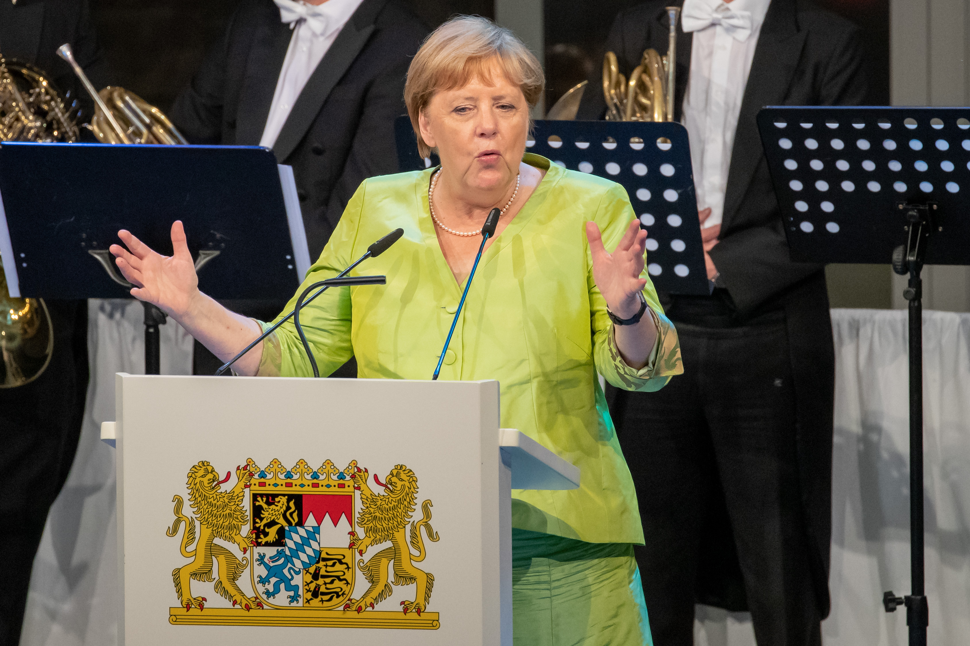 Angela Merkel gives speech to open Bayreuth festival 2019