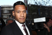 Israel Folau arrives ahead of his conciliation meeting with Rugby Australia at Fair Work Commission on June 28, 2019 in Sydney, Australia