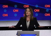 Democratic presidential candidate Marianne Williamson speaks during the Democratic Presidential Debate at the Fox Theatre July 30, 2019 in Detroit, Michigan.