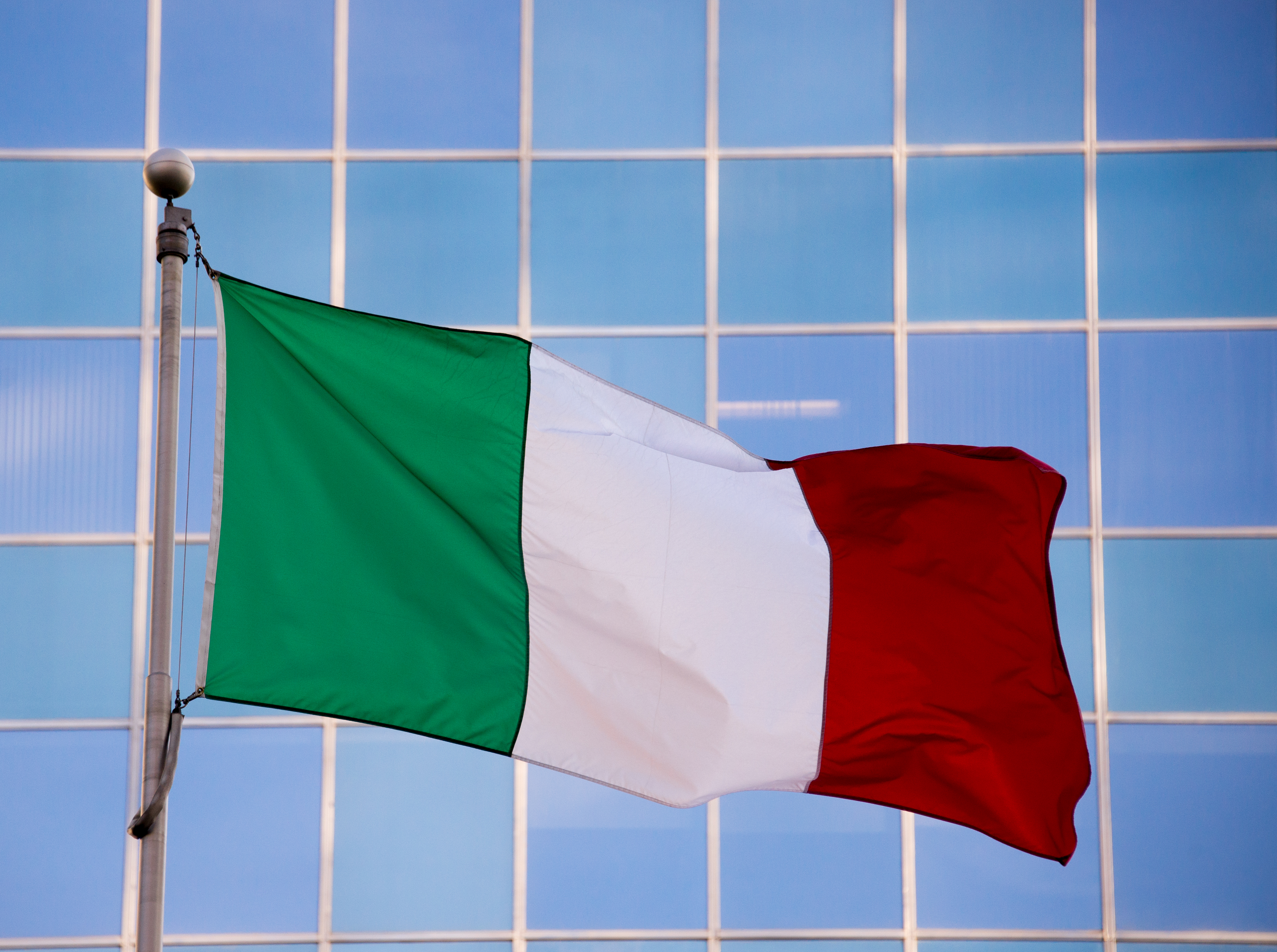 National flag of Italy.