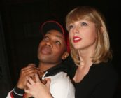 Todrick Hall and Taylor Swift pose backstage at the hit musical Kinky Boots on Broadway at The Al Hirschfeld Theater on November 23, 2016 in New York City.