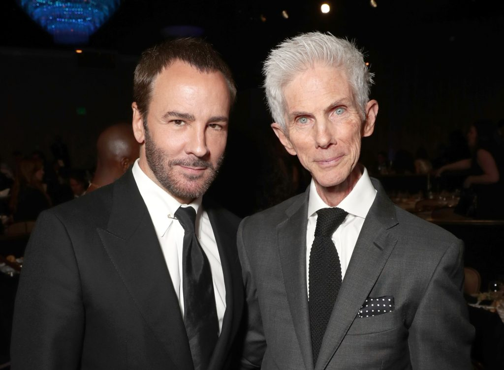 Tom Ford and his husband Richard Buckley attend the 2017 Writers Guild Awards L.A. Ceremony at The Beverly Hilton Hotel on February 19, 2017 in Beverly Hills, California