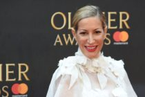 German actress Laura Pradelska poses on the red carpet upon arrival to attend The Olivier Awards at the Royal Albert Hall in central London on April 8, 2018.