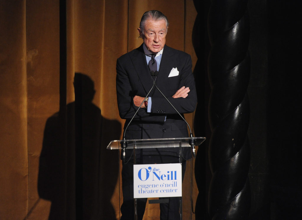 Director Joel Schumacher addresses the audience during the 12th Annual Monte Cristo Awards at The Edison Ballroom on April 16, 2012 in New York City.