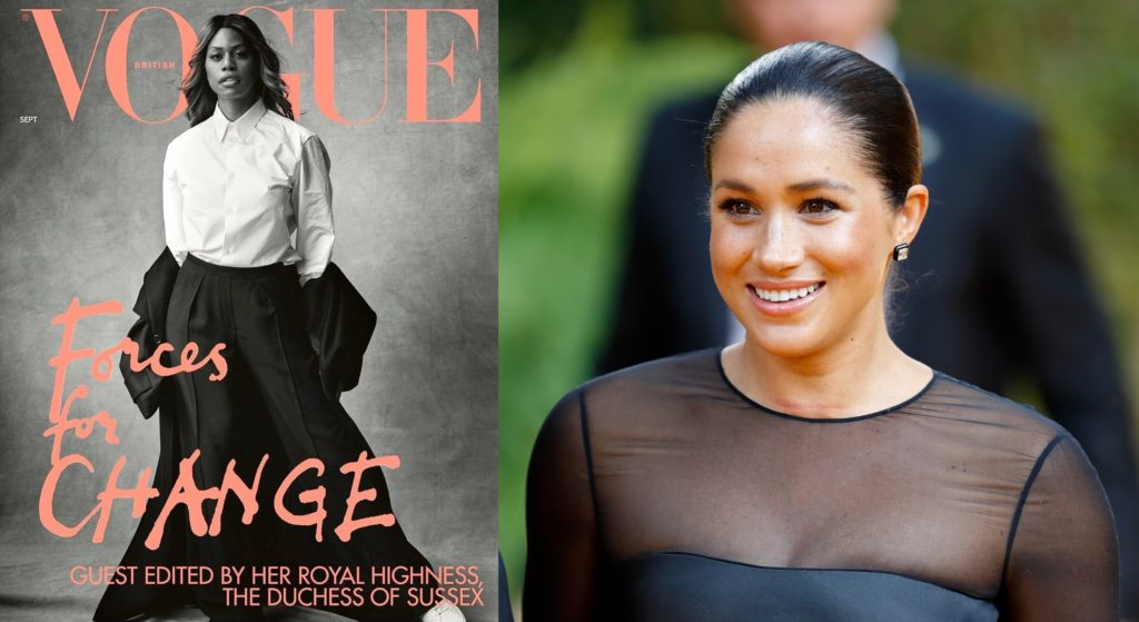 Laverne Cox was hand-picked for the British Vogue cover by Meghan Markle