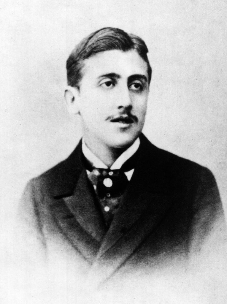 Portrait of the French novelist Marcel Proust.