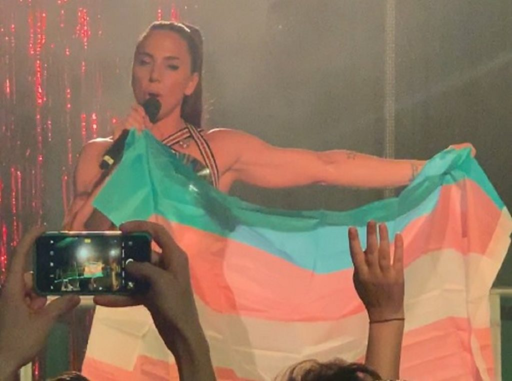 Mel C showed her support for trans rights