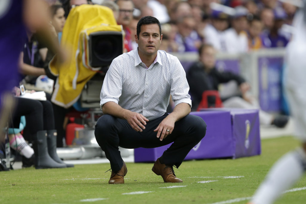 Mike Petke of Real Salt Lake during the match between Orlando City v Real Salt Lake on May 6, 2018