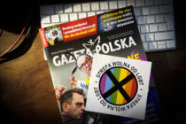 The conservative Polish Gazeta Polska magazine is including 'LGBT-free zone' stickers inside its weekly edition amid rising tensions between LGBT activists and a conservative Christian movement supported by the country's right-wing ruling party.