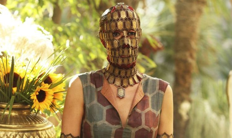 Game of Thrones actress Laura Pradelska as masked woman Quaithe