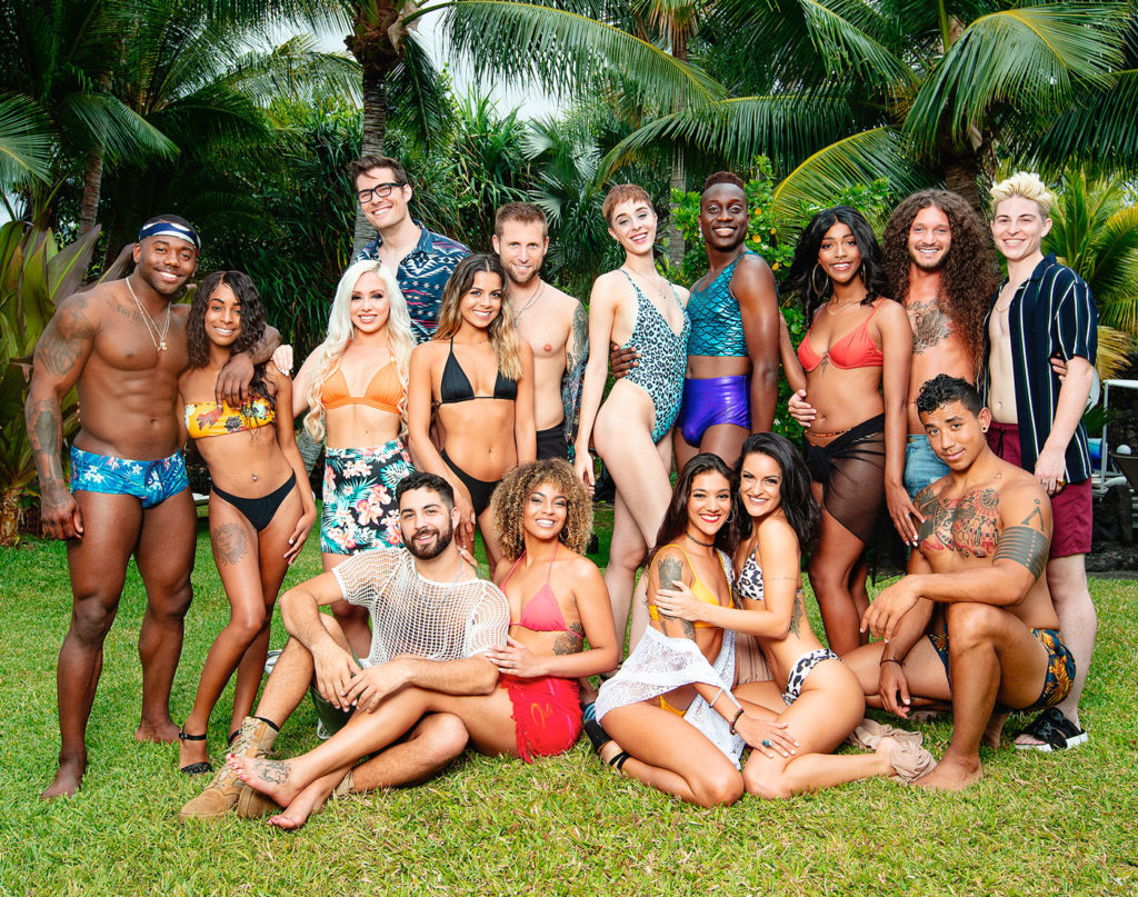 The cast of Are You The One seaason 8 wearing swimwear