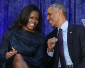 Barack and Michelle Obama smiling
