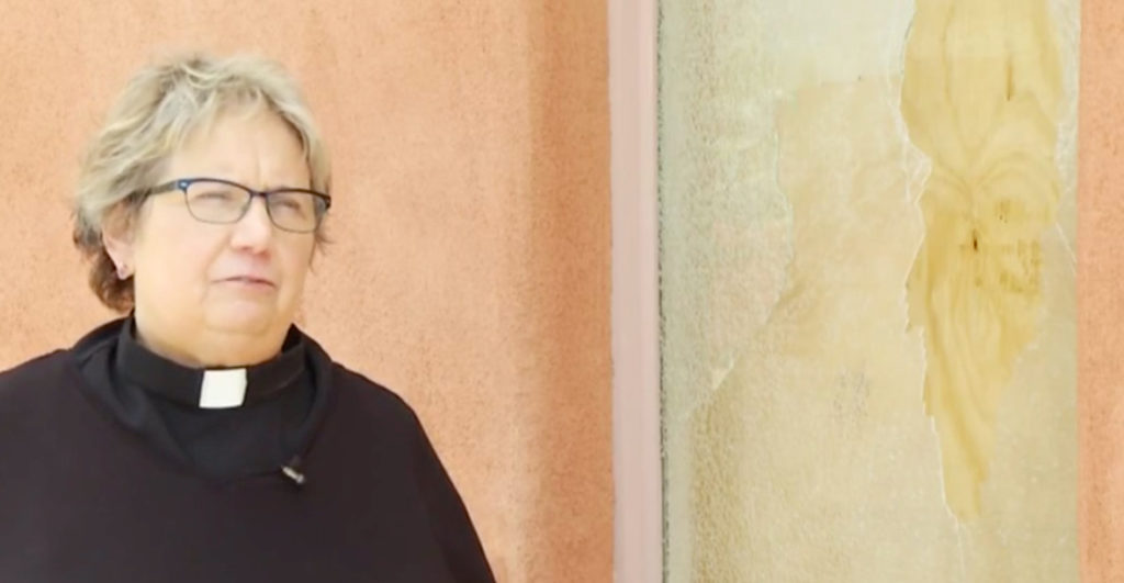 Pastor Judith Maynard of LGBT church vandalised