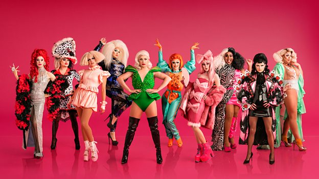 The cast of RuPaul's Drag Race UK. (BBC)