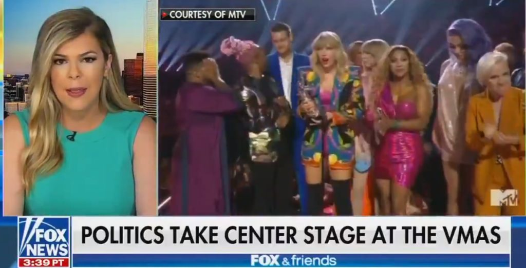 A commentator on Fox & Friends hit out at Taylor Swift