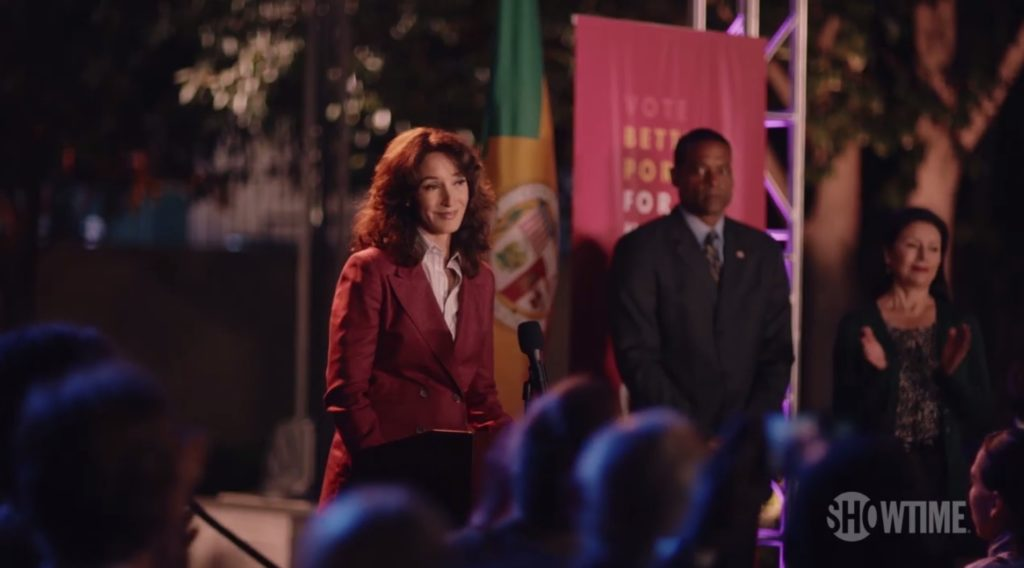 Bette Porter is running for Mayor of Los Angeles on The L Word: Generation Q