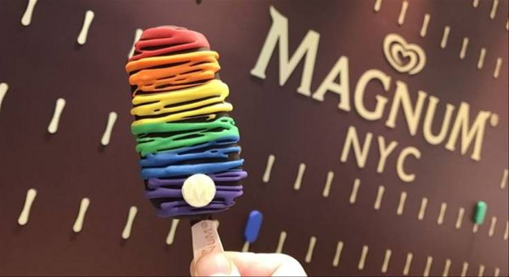 Magnum slammed for ad comparing ice cream to jailing gay people
