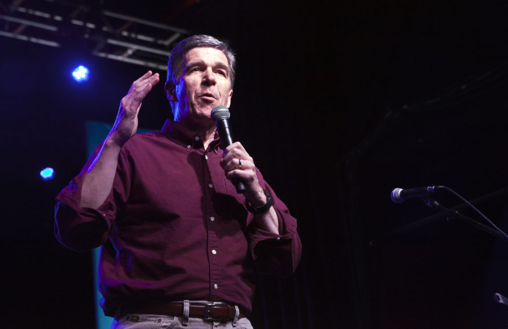 North Carolina governor Roy Cooper speaks during Get Out the Vote at The Fillmore Charlotte on November 6, 2016 in Charlotte, North Carolina.