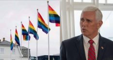 Mike Pence was greeted by rainbow flags on his trip to Iceland