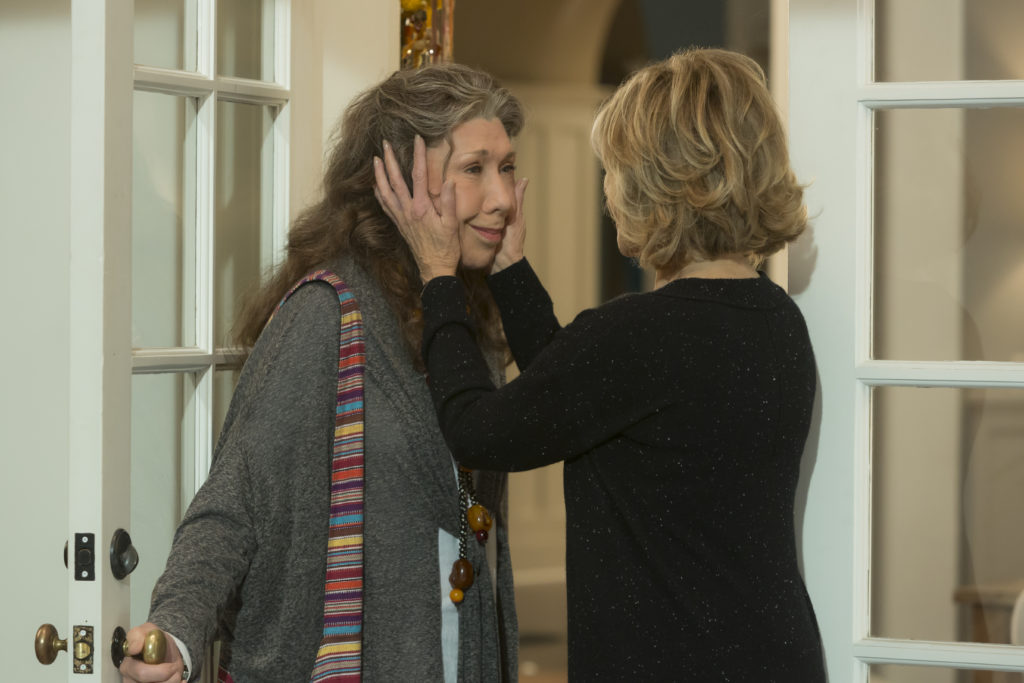 Lily Tomlin and Jane Fonda on Grace And Frankie