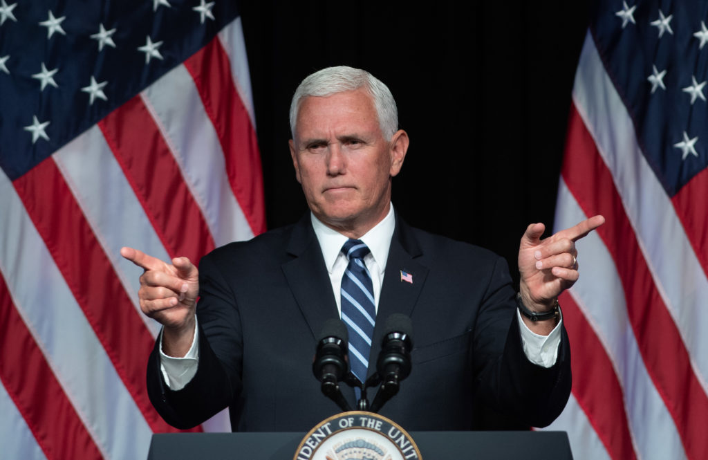 US Vice President Mike Pence has claimed he was bitten by a horse. (SAUL LOEB/AFP/Getty Images)