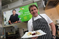 Chef James Martin teaches a cooking class