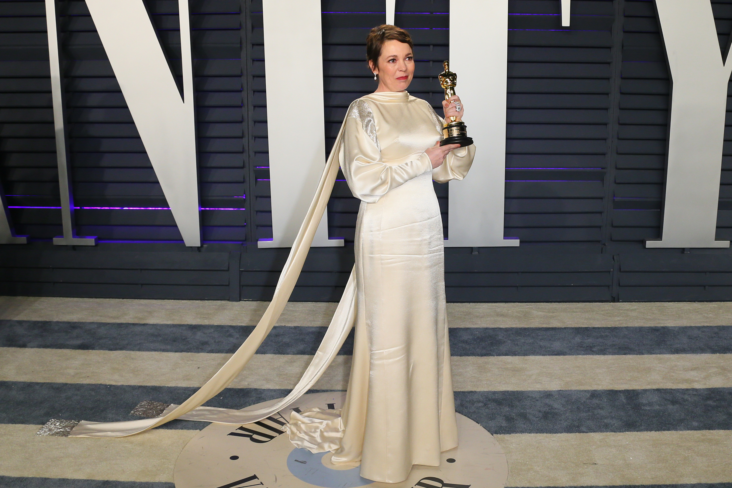 Olivia Colman at Vanity Fair Oscars party 2019