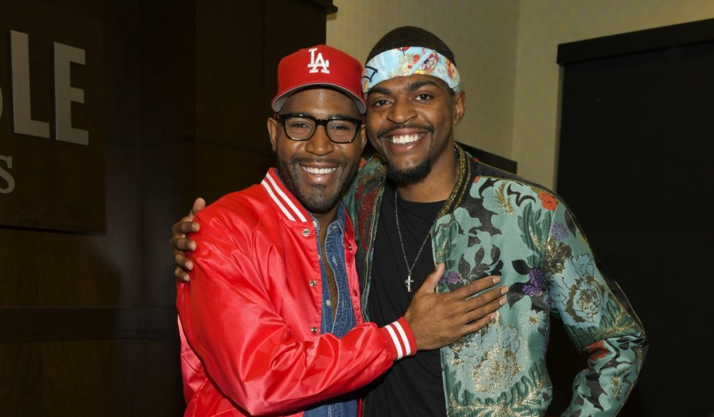 Karamo Brown and son Jason Brown, who was born by a previous relationship