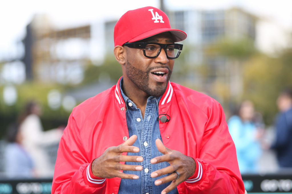Karamo Brown visits Extra at Universal Studios Hollywood on March 08, 2019 in Universal City, California.