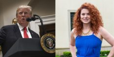 President Donald Trump has hit out at Debra Messing over her views