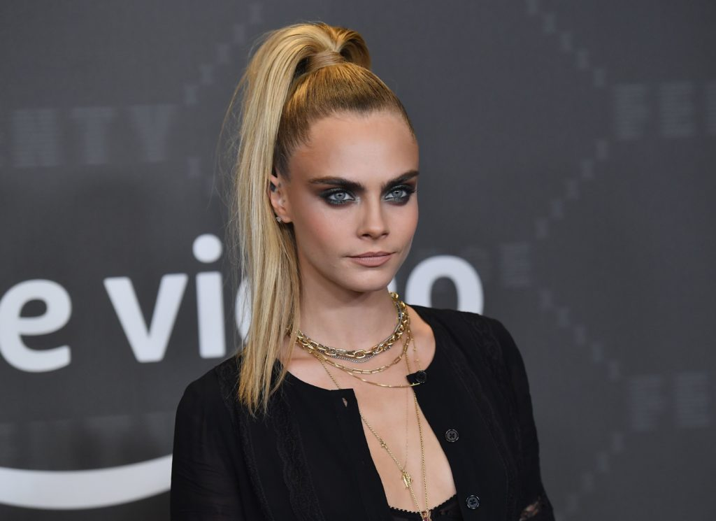 British actress Cara Delevingne arrives for the Savage X Fenty Show Presented By Amazon Prime Video at Barclays Center on September 10, 2019 in Brooklyn, New York