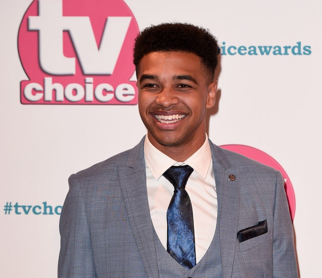 Emmerdale actor Asan N'Jie attends The TV Choice Awards 2019 at Hilton Park Lane on September 09, 2019 in London, England.