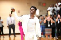 Lil Nas X makes a surprise visit to his former high school on September 10, 2019 in Lithia Springs, Georgia