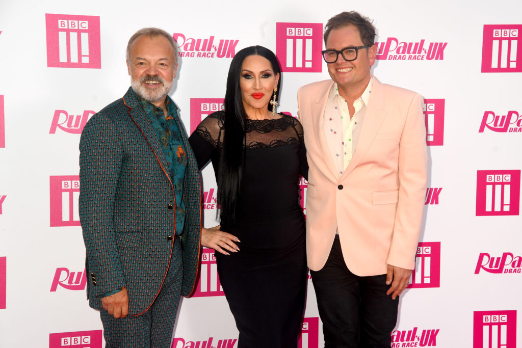 Graham Norton, Michelle Visage and Alan Carr attend the RuPaul's Drag Race UK premiere at on September 17, 2019 in London, England.