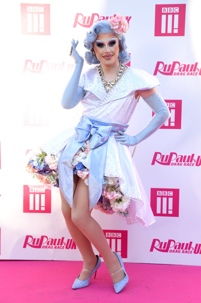 Blu Hydrangea at the RuPaul's Drag Race UK launch. (Karwai Tang/WireImage)