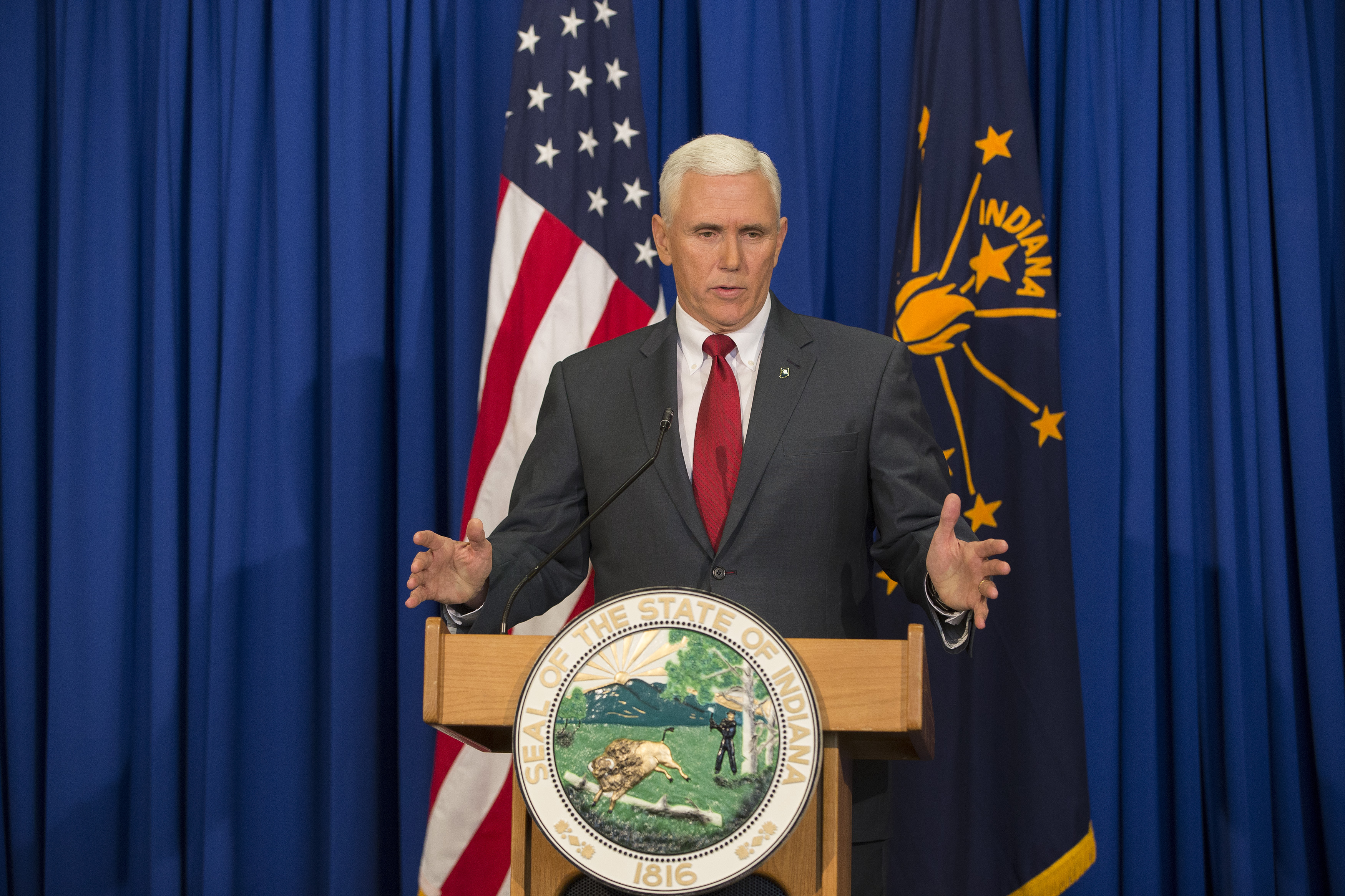 Governor Mike Pence of Indiana faced national scrutiny for his anti-LGBT stances