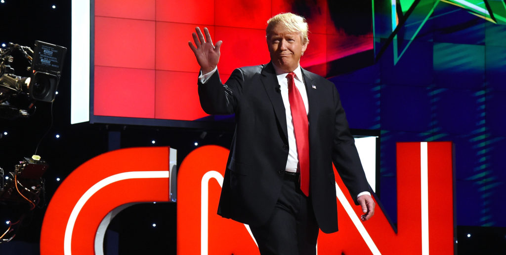 Donald Trump during the CNN presidential debate on December 15, 2015 in Las Vegas, Nevada.