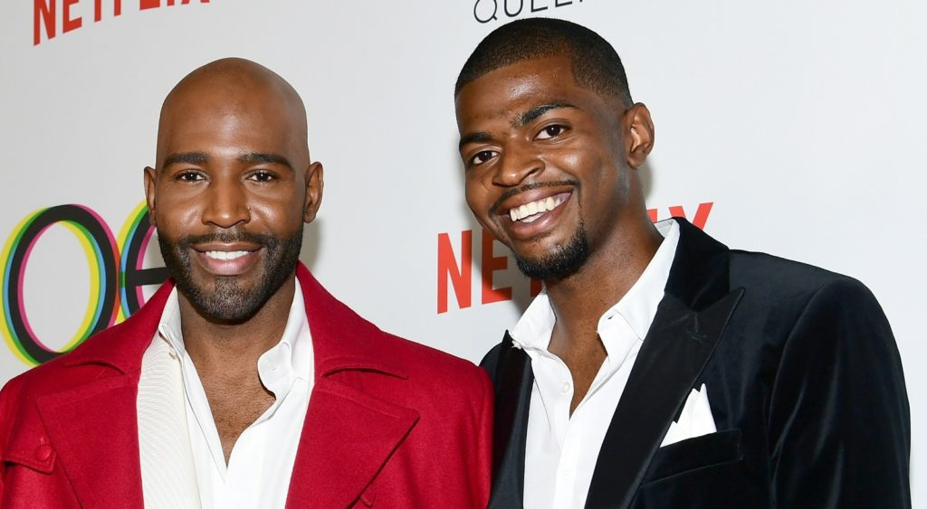 Karamo Brown and Jason Brown attend the premiere of Netflix's Queer Eye