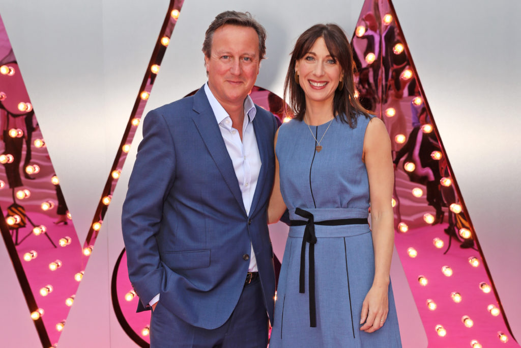 David Cameron and Samantha Cameron attend the Summer Party at the V&A Museum on June 20, 2018 in London, England.