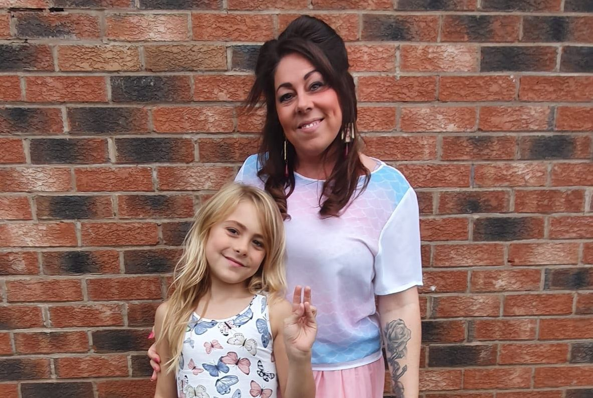 """Jeneen (R) and her eight-year-old daughter, Luna, Britain's """"youngest transgender toddler."""" (Jeneen)"""
