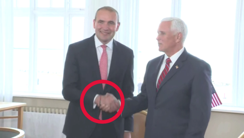 Mike Pence trolled by Iceland president wearing rainbow bracelet