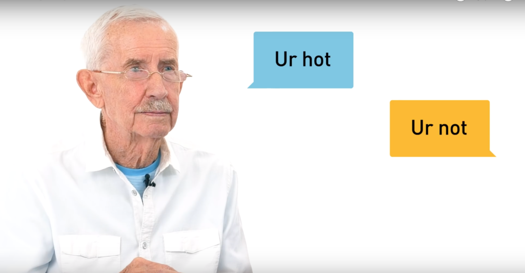 The Old Gays tried out Grindr for the first time, and the results are pretty eye-opening. (Screen capture via YouTube/Into)
