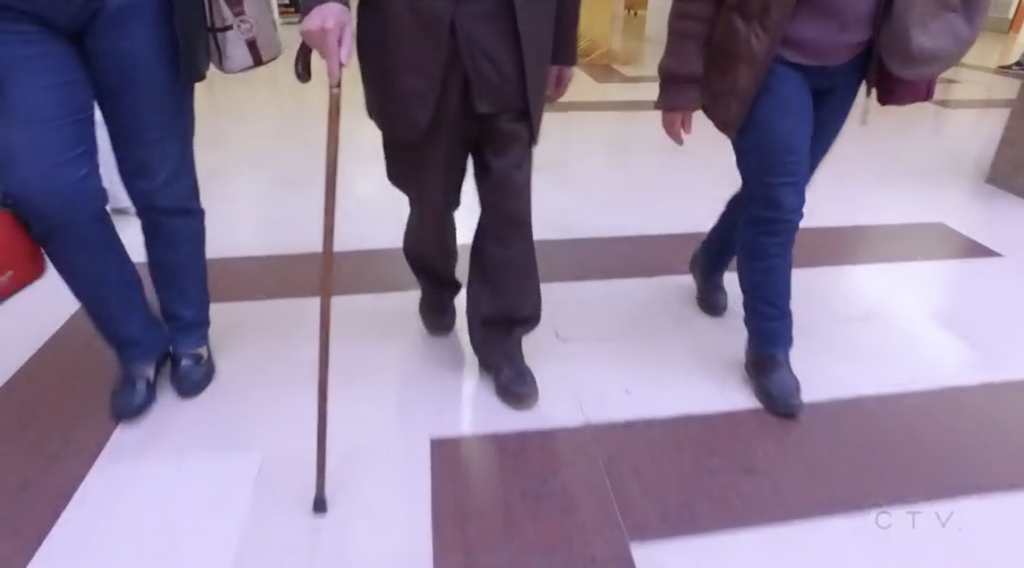Miguel, who walked with a cane, has meant that HIV research as made great strides in developing improved geriatric care. (Screen capture via CTV News)