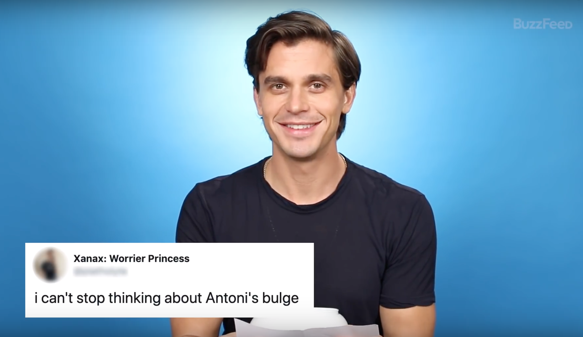 Antoni Porowski revealed a lot in a recent interview.(Screen capture via Buzzfeed)