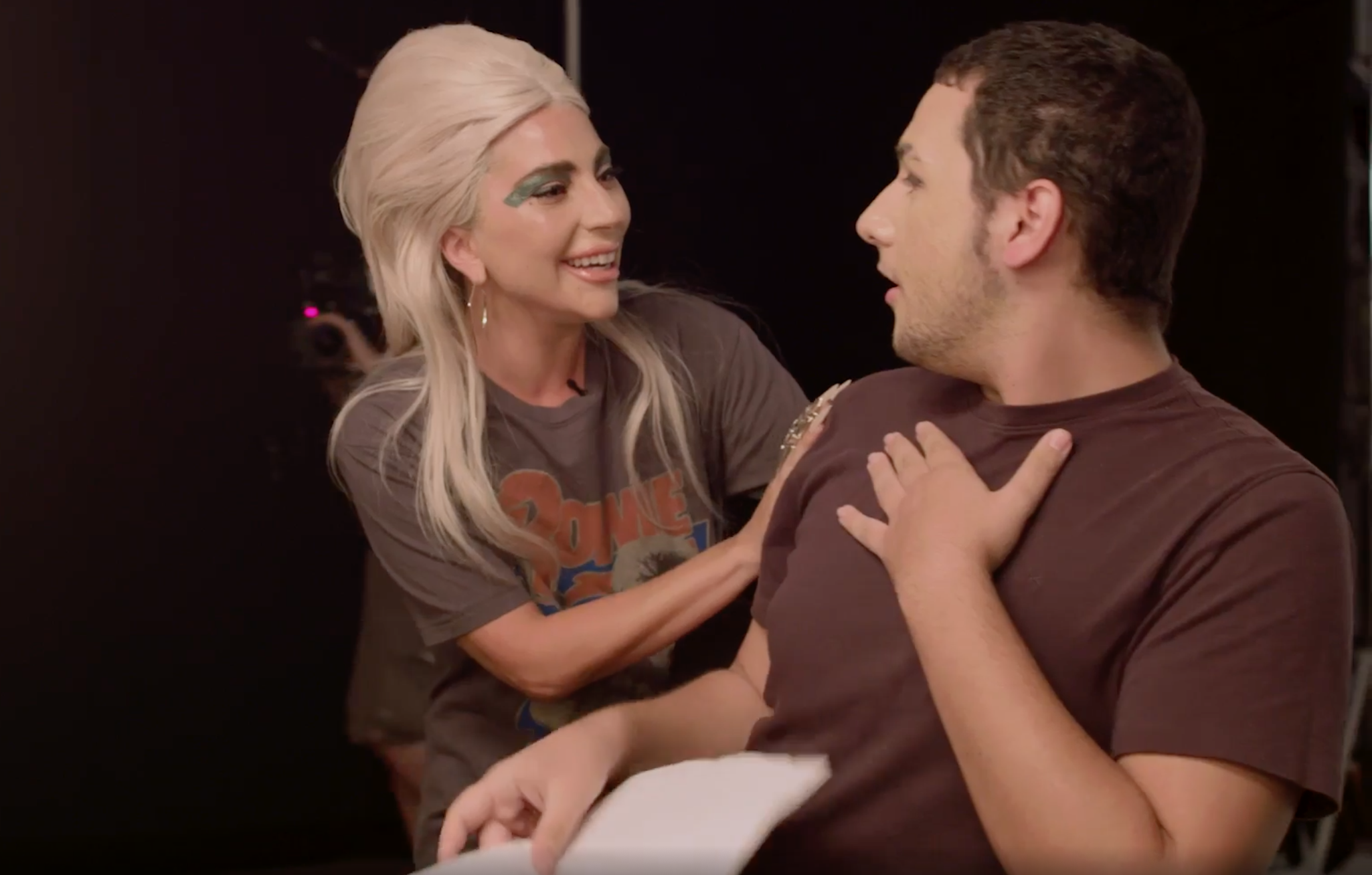 Lady Gaga meets a 19-year-old superman in an emotional video. (Screen capture via Allure Magazine)
