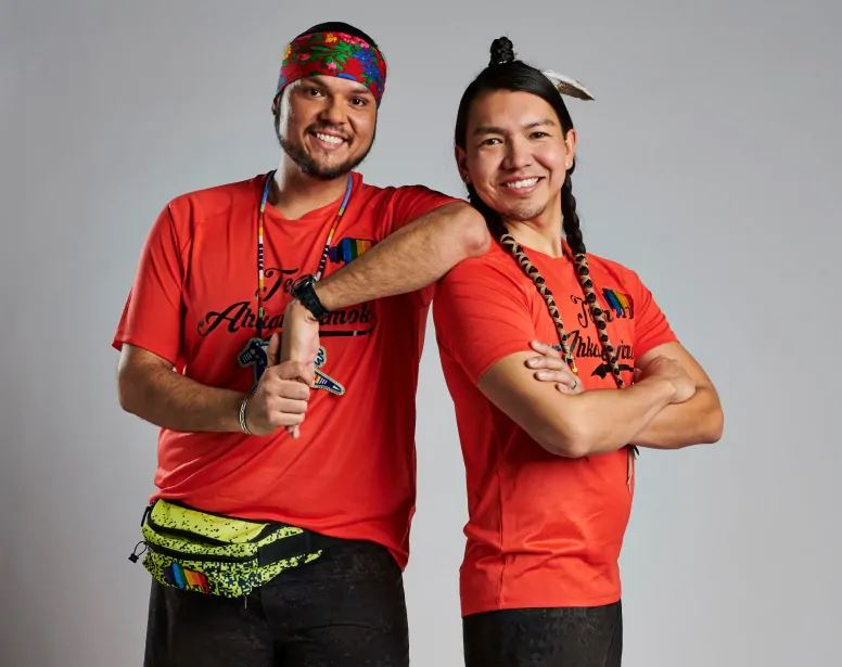 Anthony Johnson and James Makokis on The Amazing Race