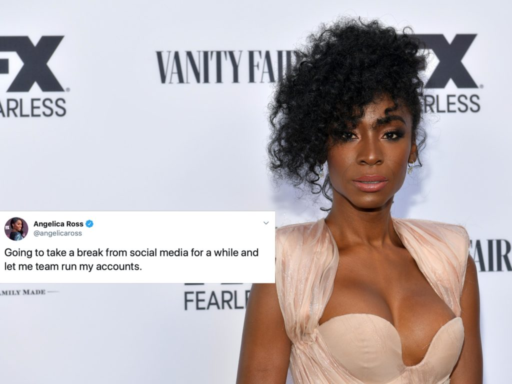 Trans actor Angelica Ross has taken a break from Twitter following backlash for her comments against Bernie Sanders. (Rodin Eckenroth/WireImage)