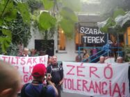 Anti-LGBT activists stormed the event in Budapest