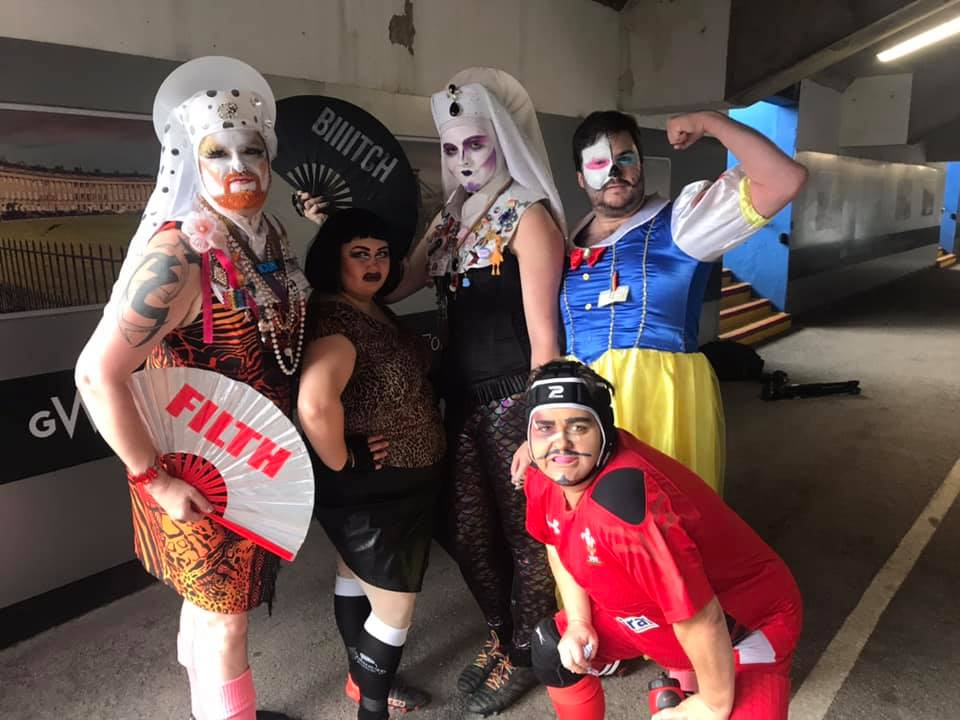 Drag queens who played rugby to raise funds for mental health charity